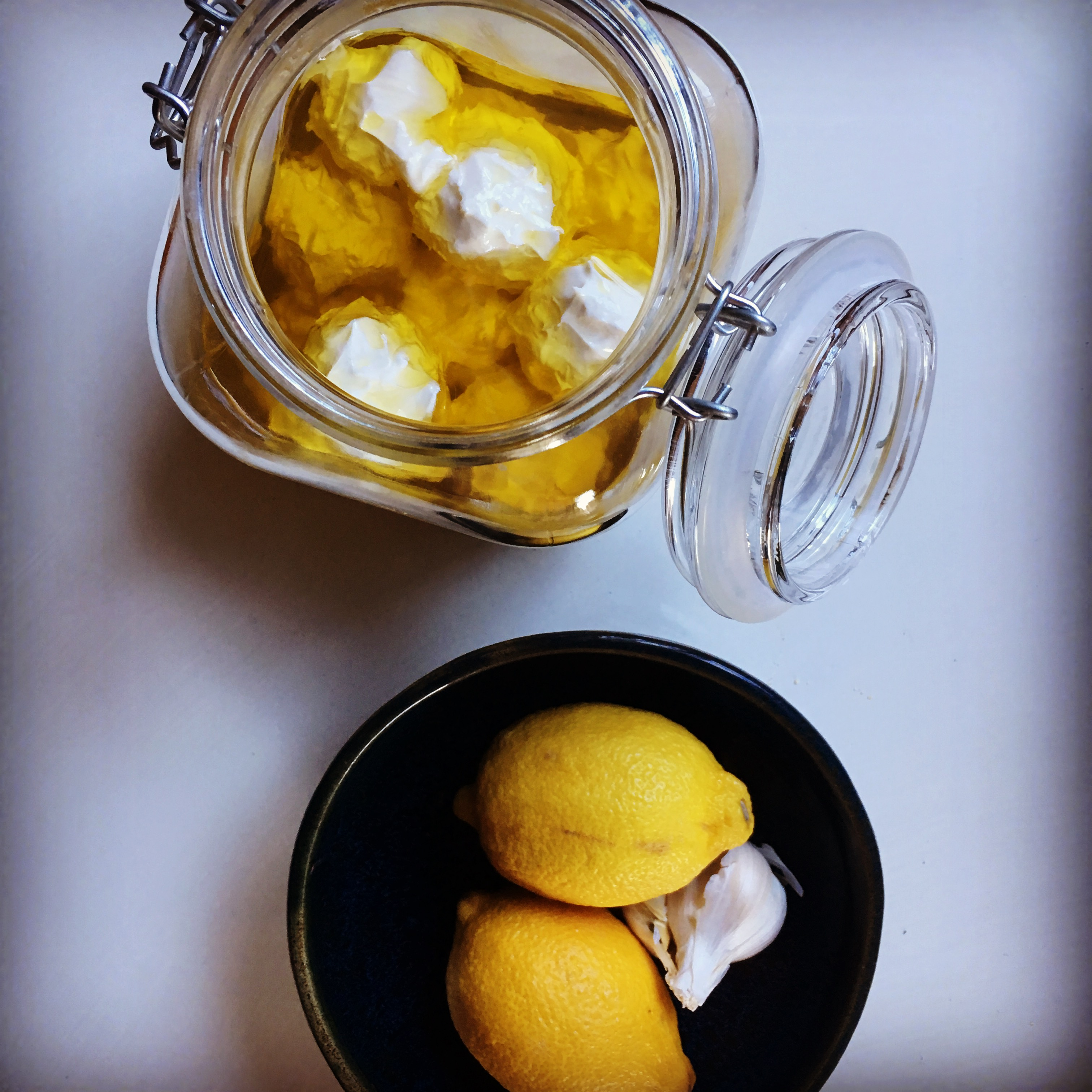 Labneh: Strained yogurt cheese